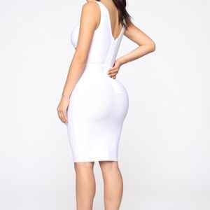 Sexy White bodycon dress NEVER WORN